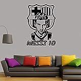 Shentop Football Football Star Vinyle Stickers muraux Joueur de Football de Barcelone...
