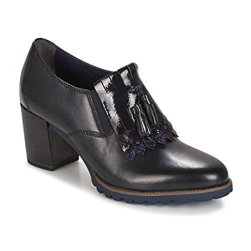 Tamaris Damen Hochfrontpumps blau Leder Größe 36-41 Touch-it Fußbett, Damen Größen:41;Farben:blau