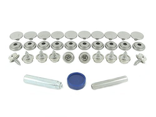 BPS 850-3 R00 Stainless Steel (Grade 304) Press Stud Fastener Repair Kit for Fabric to Wood Application Test