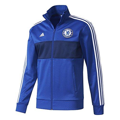 adidas CFC 3S TRK Sweatshirt Chelsea FC für Herren, Blau (CheBlau / Azuosc / Weiß), S (Chelsea Pullover)