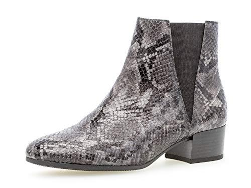 Gabor Donna Stivaletto 32.812, Signora Stivali,Stivaletti,Boot,Ankle Boot delle Donne,con Cerniera,Dark-Grey (Micro),39 EU / 6 UK