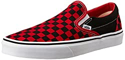 Vans Unisex Classic Slip-On Black and Formula One Checkerboard Loafers and Moccasins - 8 UK/India (42 EU)