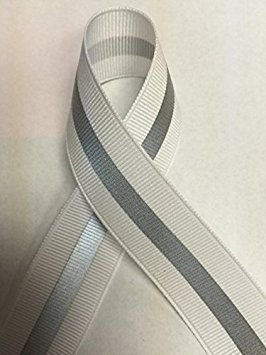 White Stripe Grosgrain (7/8