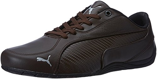 Puma-Mens-Drift-Cat-5-Carbon-Leather-Sneakers