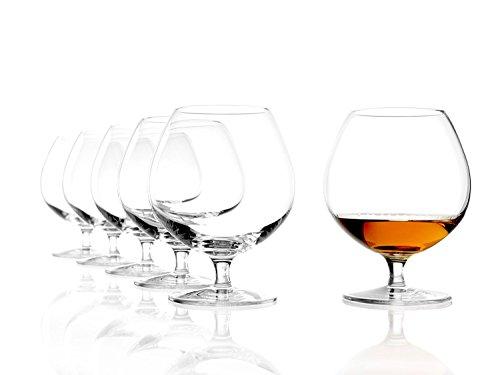 Stölzle Lausitz Cognacschwenker 585ml, 6er Set Cognac Gläser, spülmaschinenfest, bleifreies Kristallglas, hochwertige Qualität
