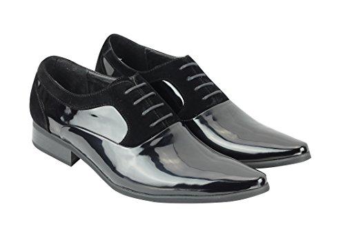 Xposed - Low Shoes Cordones De Patente Negros De Hombre