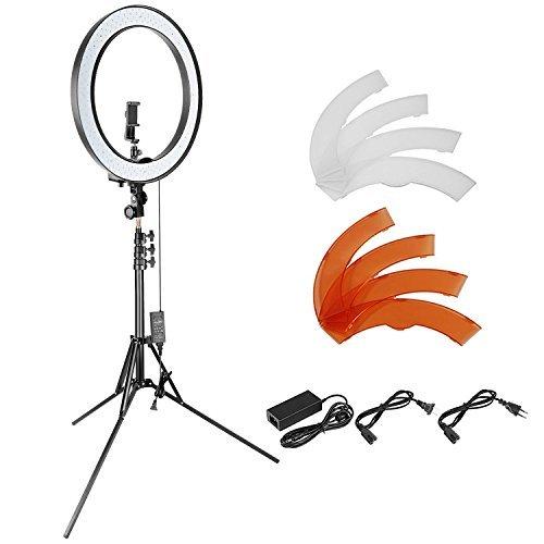 Neewer 18 Zoll dimmbares SMD LED Ringlicht Beleuchtung Set mit 200cm Ständer, Bluetooth-Empfänger, drehbarer Handy-Halter für Smartphone-Kamera-Portrait Make-up YouTube Video Aufnahme (Hochzeit Ring Aufnahmen)