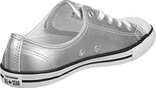 Pelle Converse Mandrini 553338C All Star Metallic Dainty Blush Oro Nero Bianco silver black white
