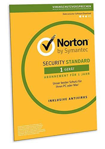 Norton Security Standard 2019 | 1 Gerät | 1 Jahr | PC/Mac/Android/iOS | Download, Aktivierungscode in Frustfreier Verpackung