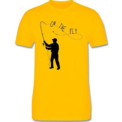 Angeln - Fishing - On the Fly - Herren Premium T-Shirt Gelb