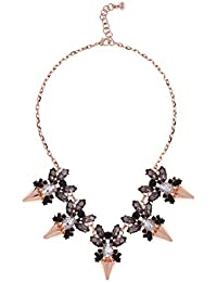 Ted Baker Arnah Flèche :  Strass et Diamant Noir Collier Or Rose