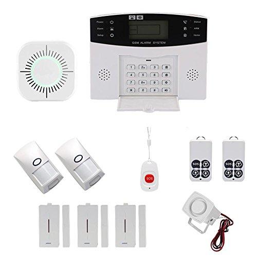 Star Eleven Wireless GSM SMS Home Einbrecher Sicherheit Alarm System Detektor Sensor Kit Phone App Fernbedienung 433MHz 1527