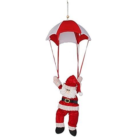 Adorno Santa Claus Colgante Paracaída Decoración Regalo para Navidad