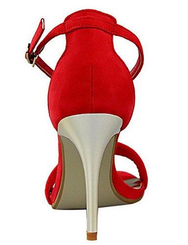 WSS 2016 Chaussures Femme-Décontracté-Noir / Vert / Rose / Rouge / Gris-Talon Aiguille-Talons-Chaussures à Talons-Laine synthétique green-us6 / eu36 / uk4 / cn36