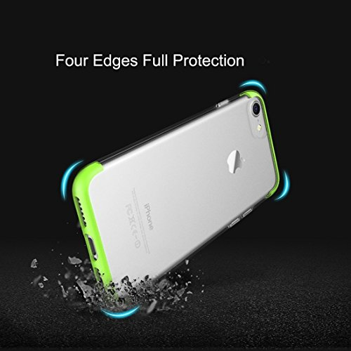 GR iPhone 7 Frosted PC Schutzhülle Back Shell Abdeckung mit TPU Beide Enden ( Color : White ) Green