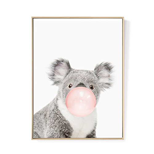 TOOGOO Kawaii Animal Coala Poster de impresion de arte Pintura de lona nordica Cuadro de pared Decoracion de habitacion (sin marco) 50cm*70cm