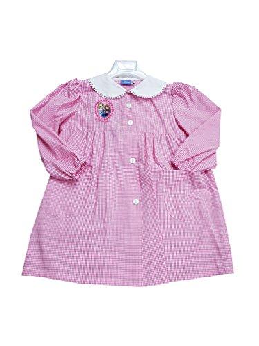 Frozen grembiule scuola materna quadri rosa disney asilo per bambina (art. u952003) (65-6 anni)