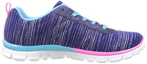 Skechers Appeal-Glitter Rush, Sneakers Basses Fille Bleu (BLMT)