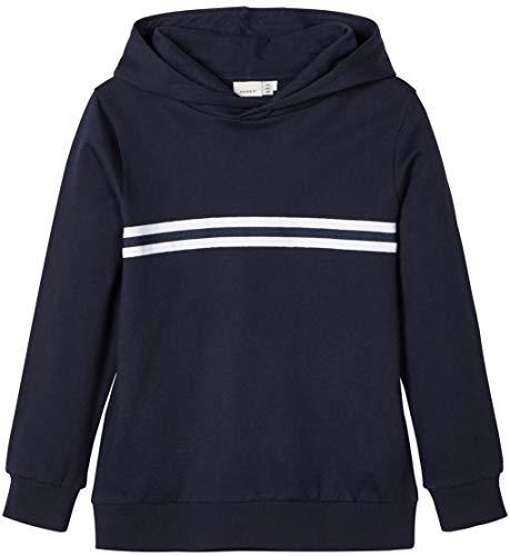 Name IT NOS Jungen NKMTHUNDER LS Sweat W Hood UNB NOOS Sweatshirt, Blau (Dark Sapphire Dark Sapphire), 158 (Herstellergröße: 158-164)