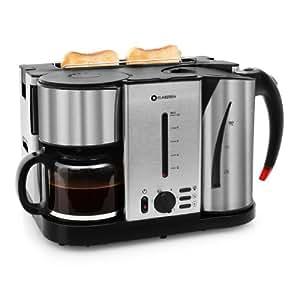 Klarstein hattrick set petit d jeuner complet 3 en 1 - Ensemble petit dejeuner cafetiere bouilloire grille pain ...