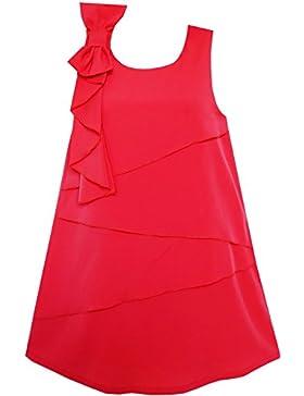 Sunny Fashion - Vestito tinta unita, bambina, rosso