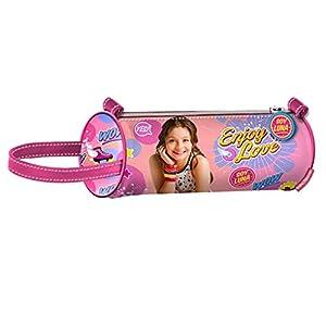 Soy Luna-Soy Estuche portatodo cilindrico, Color Rosa, 22 cm (Karactermanía 30283)