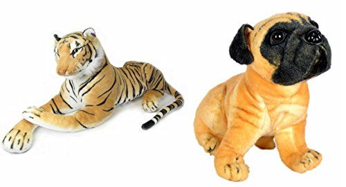 Deals-India-Tiger-32-cm-and-Hutch-Dog-25-cm-Pack-of-2