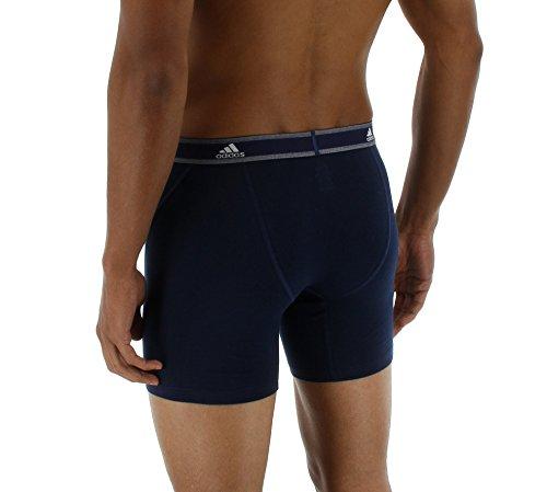 Adidas pantaloni corti, performance cotone elasticizzato slip intimo (confezione da 2) Blue/Collegiate Navy