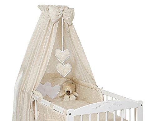 Zanzariera Letto Cotone : Zanzariera da letto per bambino in tessuto a pois con cuori
