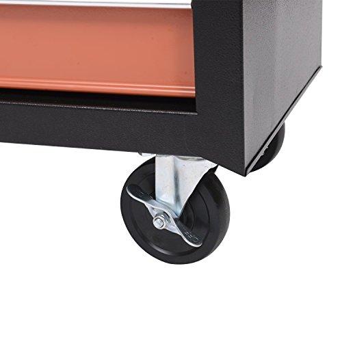 Homcom Werkstattwagen mit Lochplatte, 7 Schubladen, abschließbar - 7