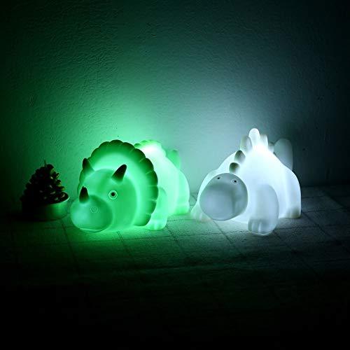 Altsommer Weihnachten Nachtlicht,Dinosaurier LED Lampe für Kinder, Beleuchten Dinosaurier LED Licht bei Nacht Familie Garten Zimmer Büro Nachtlicht,Hauptdekoration (Grün)