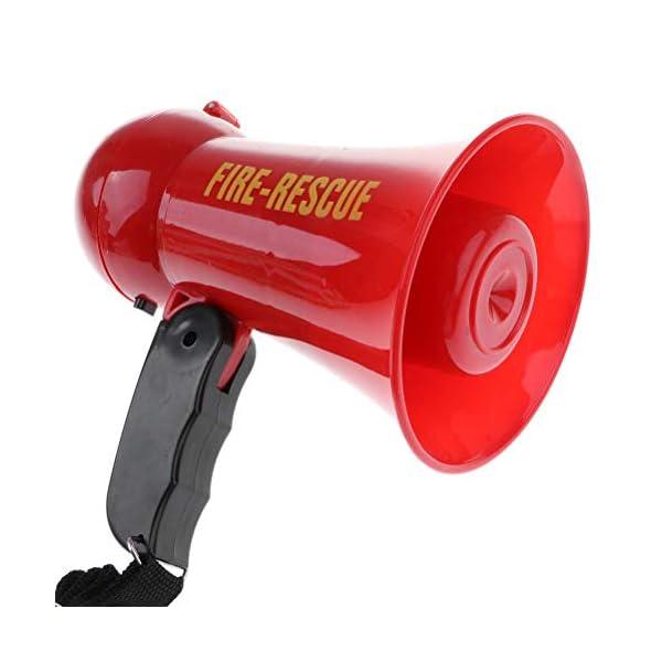 Egosy Kids Mini Speaker Simulation Pretend Kids Fire Brigade Megaphone Kids Mini Megaphone Toy para niñas niños 5