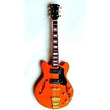 Guitarra en miniatura decorativa Gibson Es-335 VDS, fabricación a mano de madera #128naranja
