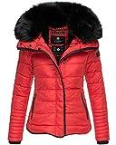 Marikoo Damen Winter Jacke Herbst Stepp Kurz Parka warm gefüttert Laureen 5 Farben XS - XL (S, Rot)
