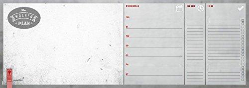 Notizblock 'Wochenplaner - Old School' | Schreibtischunterlage | Wochenkalender | 52 Blatt | 45 x 16...