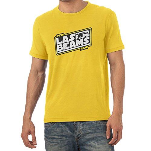 TEXLAB - Pew Pew Laser Beams - Herren T-Shirt Gelb