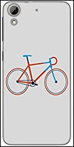 Snoogg Minimal Cycle Ride Designer Protective Back Case Cover For HTC Desire 626