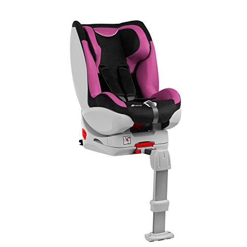 Hauck Varioguard - Silla de coche, grupo 0/I, color negro y rosa