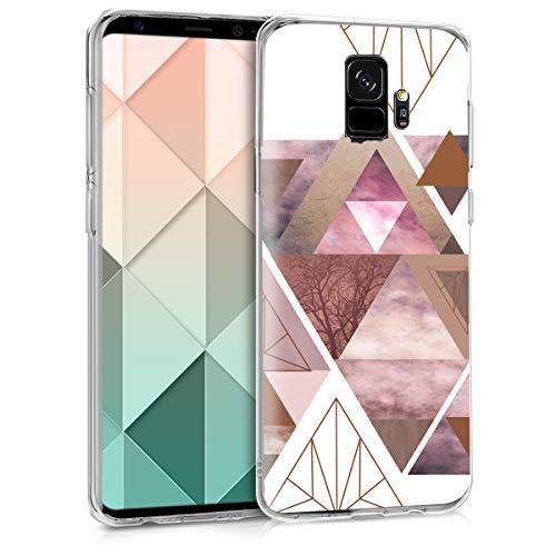 kwmobile Samsung Galaxy S9 Hülle - Handyhülle für Samsung Galaxy S9 - Handy Case in Rosa Rosegold Weiß
