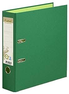 Exacompta 53983E Classeur à Levier en Carte Recyclée Forever 2 Anneaux Format A4 Dos de 80 mm Vert Foncé/Vert Clair