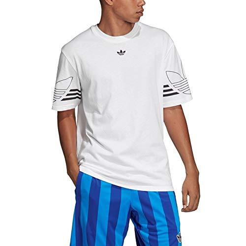 adidas Herren Outline Tee T-Shirt, White, M