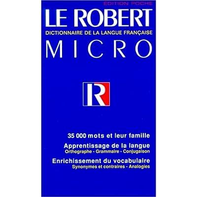 Le Robert Micro de la langue française, édition 1998