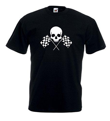 Settantallora - T-shirt Maglietta J30 Bikers Skull Nero
