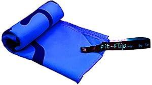Fit-Flip Mikrofaser Schweißtuch 30x50cm, saugstark, ultraleicht und extrem schnelltrocknend. Die ideale Ergänzung zu unseren Fit-Flip Trainingshandschuhen.