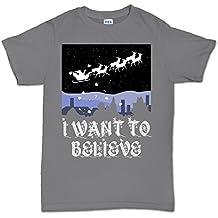 Epsion I Want To Believe Xmas Christmas Santa T shirt