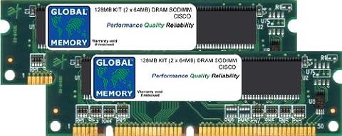 128MB (2 x 64MB) DRAM SODIMM ARBEITSSPEICHER RAM KIT FÜR CISCO 2600XM ROUTER (MEM2650-2X64D)