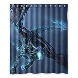 Dalliy Brauch feuer. Wasserdicht Polyester Shower Curtain Duschvorhang 152cm x 183cm