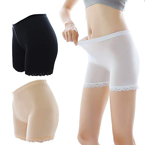 3pack Damen Sicherheit Boxershorts Baumwolle Anti-Chafing Lange Bein Frauen Knickers Underwear -
