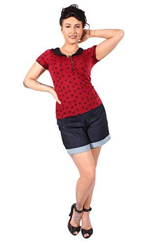 Retro Shirt: retro Schwalben Rockabilly V-Ausschnitt Swallow T-Shirt