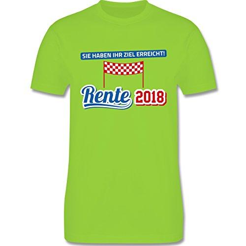Shirtracer Sonstige Berufe - Rente 2018 Sie Haben Ihr Ziel Erreicht - Herren T-Shirt Rundhals Hellgrün